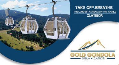 Zlatibor Gold Gondelbahn / Serbien: Längste Gondelbahn der Welt in der Bauendphase