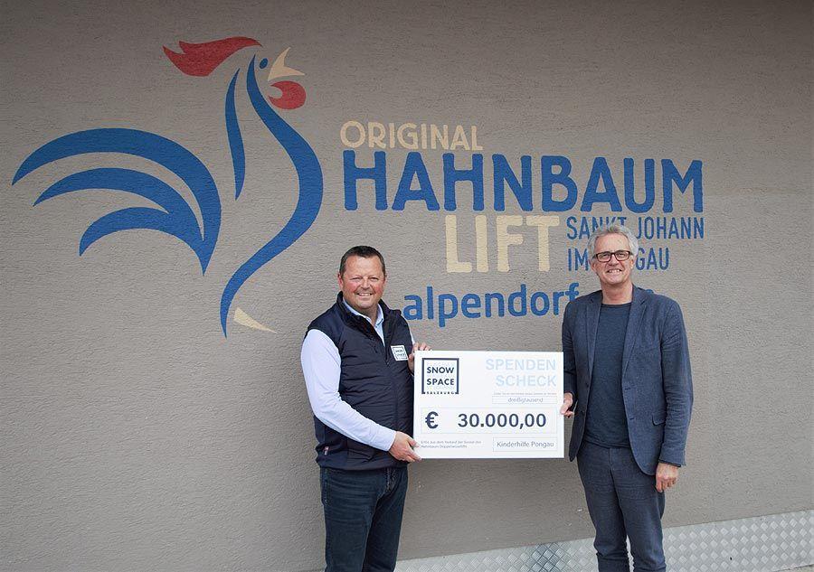 Hahnbaumlift Sesseln brachten 30.000 Euro für Kinderhilfs-Initiative ein