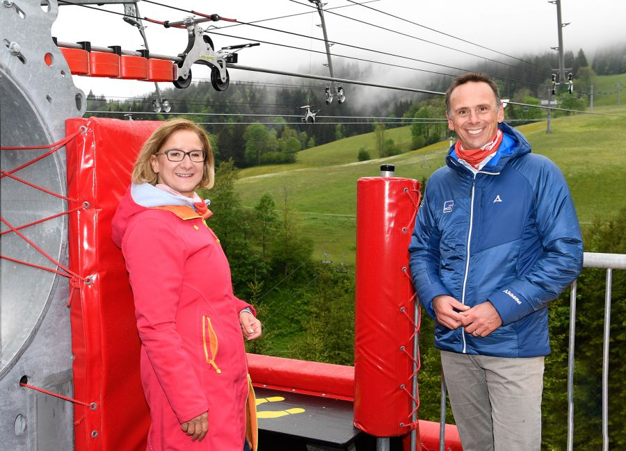 Zipline am Annaberg offiziell eröffnet