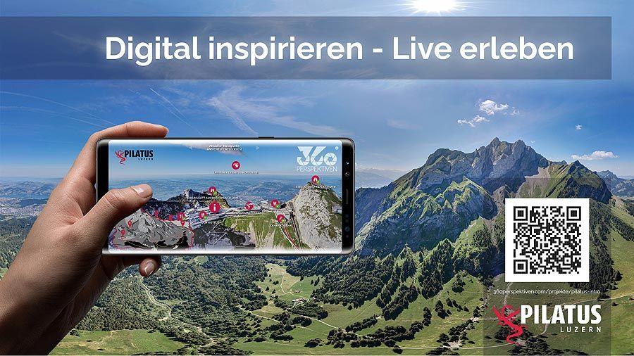 PILATUS inspiriert mit interaktiver 360° Bergtour zum Live-Erlebnis