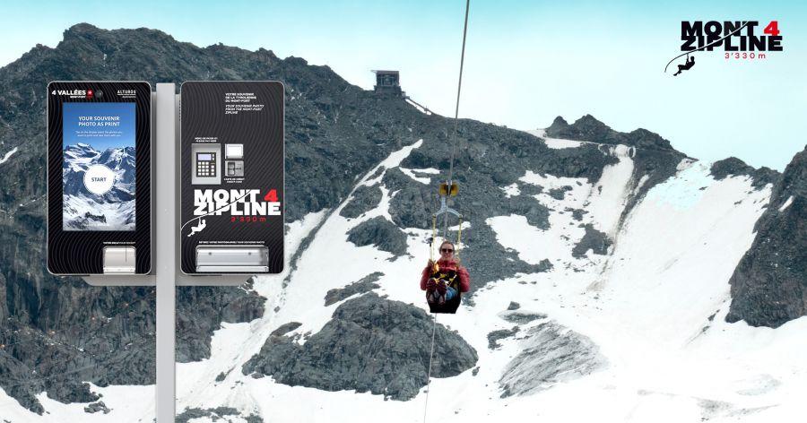 Alturos: Photofalle und Photoprint für Mont 4 Zipline