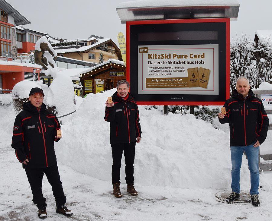 KitzSki Pure Card – weltweit das erste Liftticket aus Holz