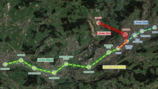 St. Gallen: Urbane Seilbahn ist kaum realisierbar
