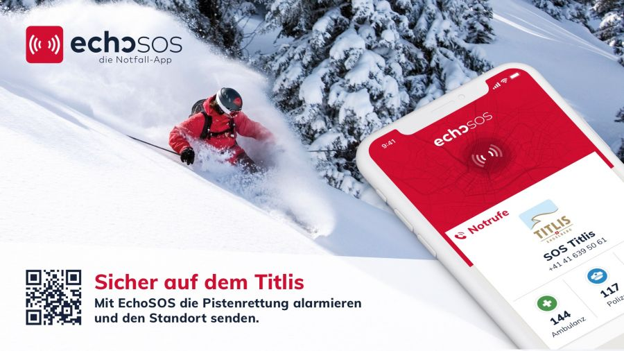 Titlis: Mit der EchoSOS Notfall-App die Pistenrettung alarmieren