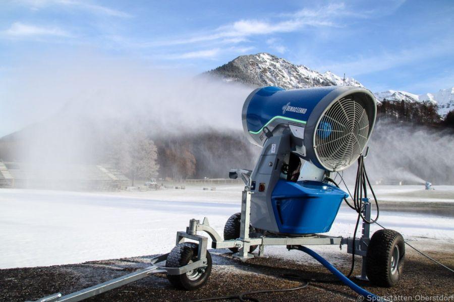 Nordische Ski-WM in Oberstdorf: Beschneiung von DEMACLENKO