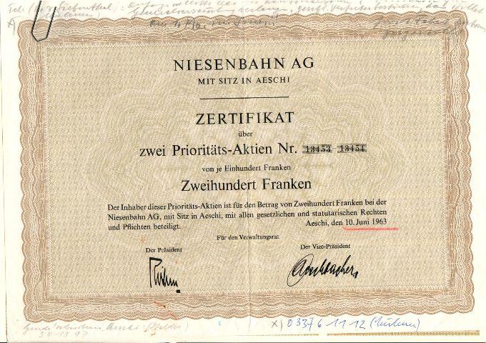 NIESENBAHN AG: Nach 100 Jahren neue Aktien und mehr Rechte für die Aktionäre