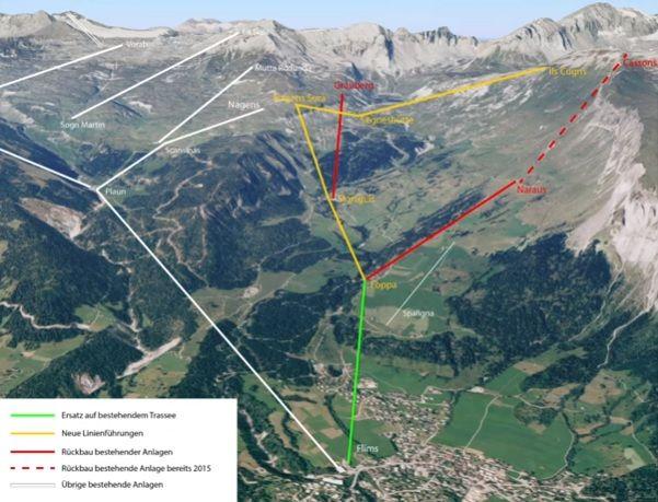 Flims: Einigung auf Linienführung neue Cassons-Bahn