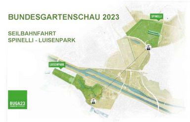 Seilbahnverbindung Bundesgartenschau Mannheim 2023