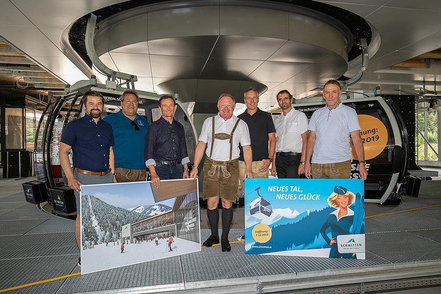 Firstfeier: Bauarbeiten für die Sektion I des zellamseeXpress im Zeitplan