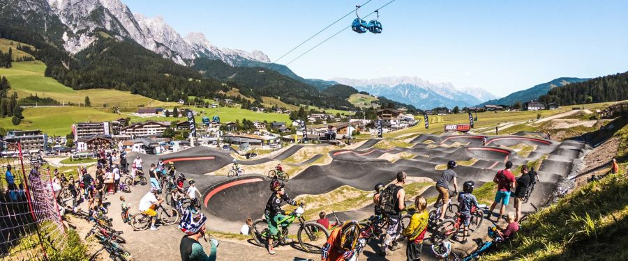 Feierliche Eröffnung der neuen Lines und Trails im Epic Bikepark Leogang