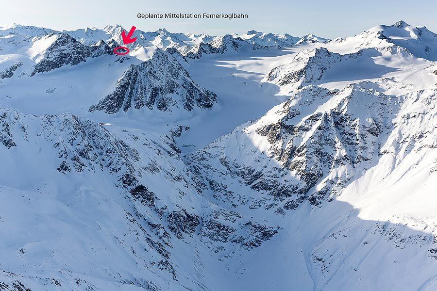 Sölden/Pitztal: Gipfel des Linken Fernerkogels bleibt unberührt