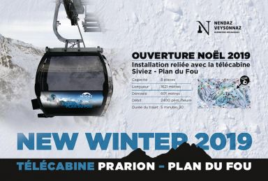 Nendaz/Veysonnaz: Neue Gondelbahn Prarion - Plan du Fou