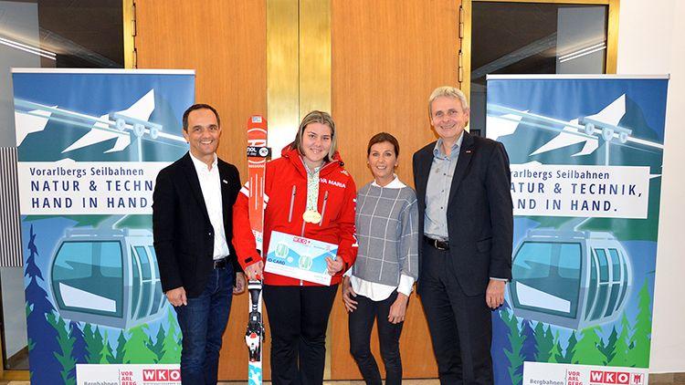 Vorarlbergs Seilbahnen honorieren Leistung heimischer Wintersportler