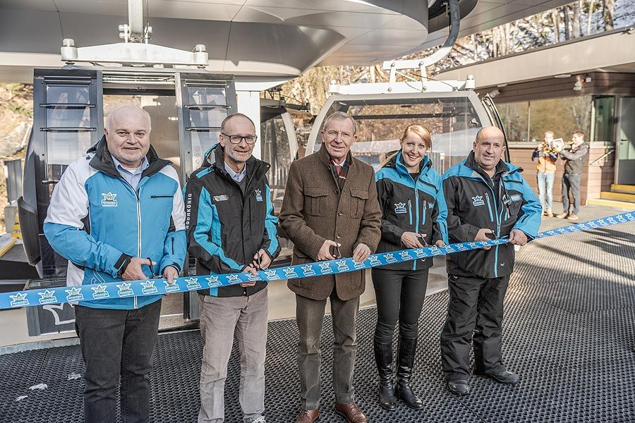 Neue Gabühelbahn in Dienten eröffnet